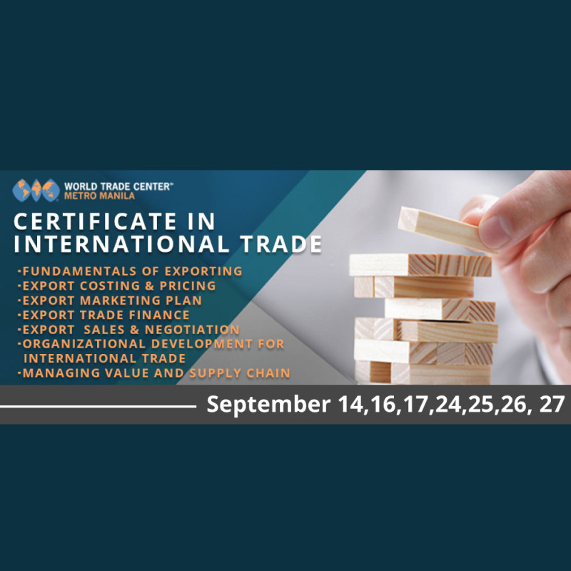 CERTIFICATE IN INTERNATIONAL TRADE PROGRAM IN 7 DAYS (September)