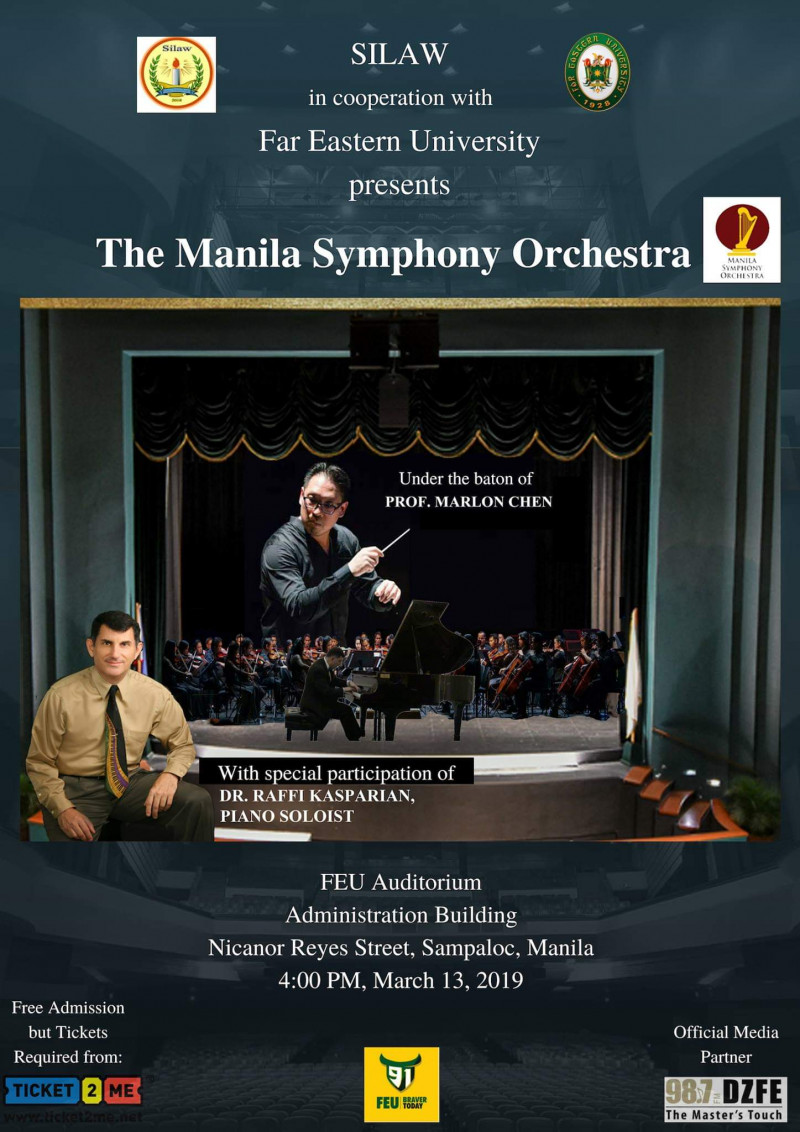 The Manila Symphony Orchestra Presented by SILAW Organization and Far Eastern University