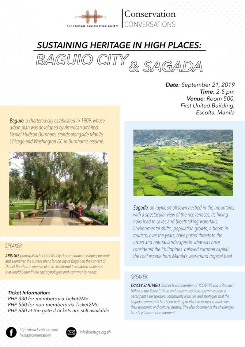 Sustaining Heritage in High Places: Baguio City & Sagada