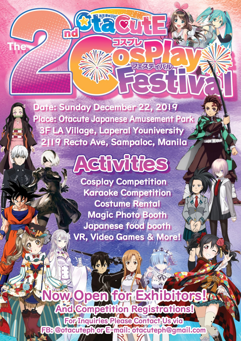 [22 Dec Sunday] OtaCutE Cosplay Festival 2nd