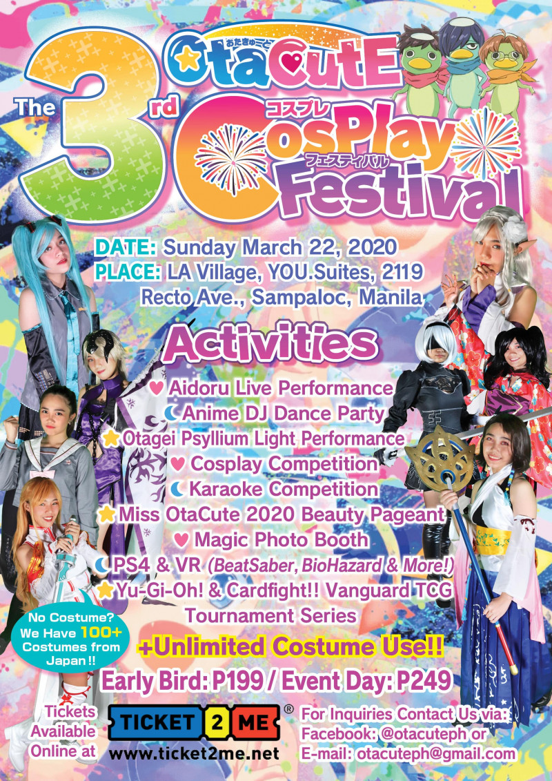 @OtaCutE Cosplay Festival 3rd (w/ Costume Rental)