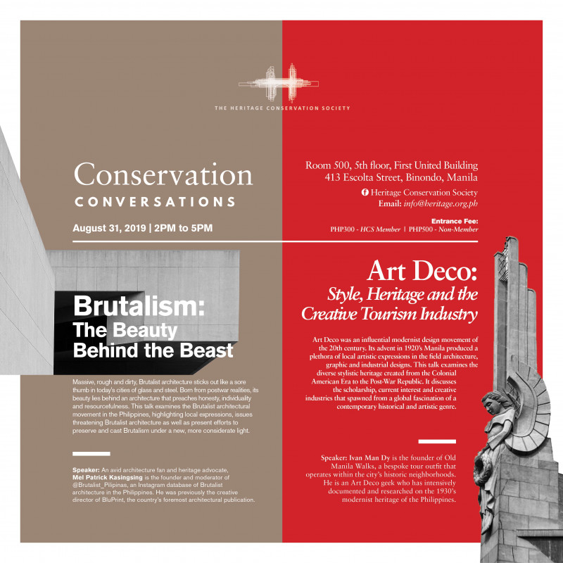 Conservation Conversations: Art Deco and Brutalist Architecture in the Philippines