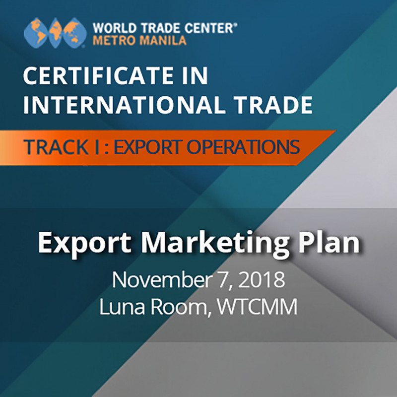 Certificate in International Trade - EXPORT MARKETING PLAN