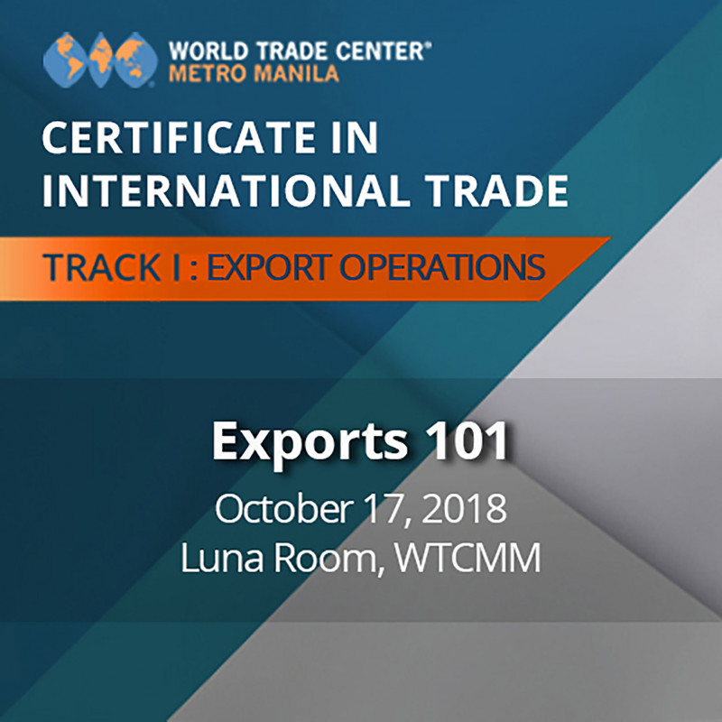 Certificate in International Trade - EXPORTS 101