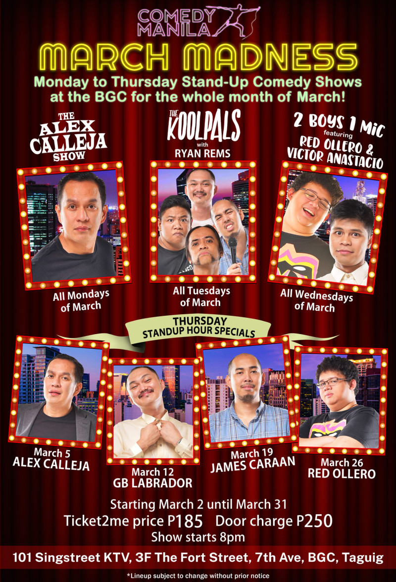 COMEDY MANILA MARCH MADNESS!