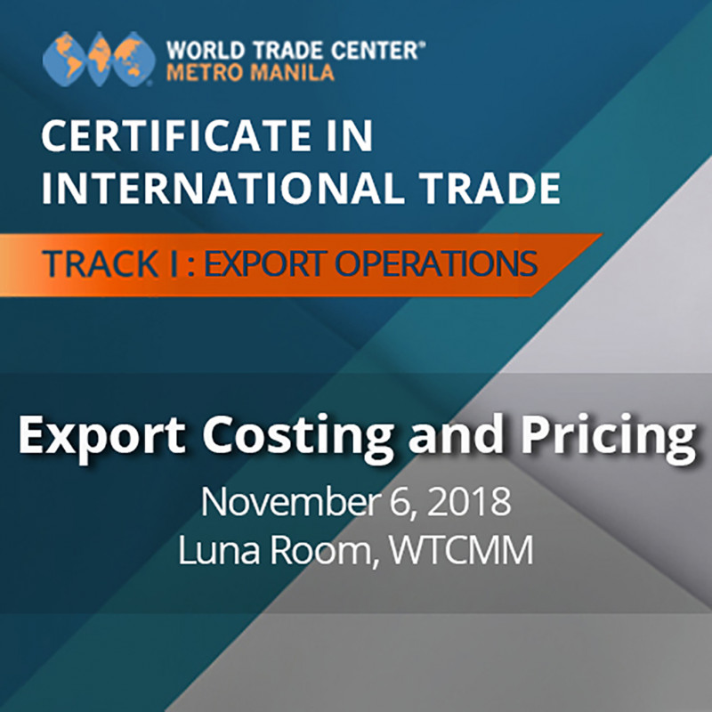 Certificate in International Trade - EXPORT COSTING AND PRICING