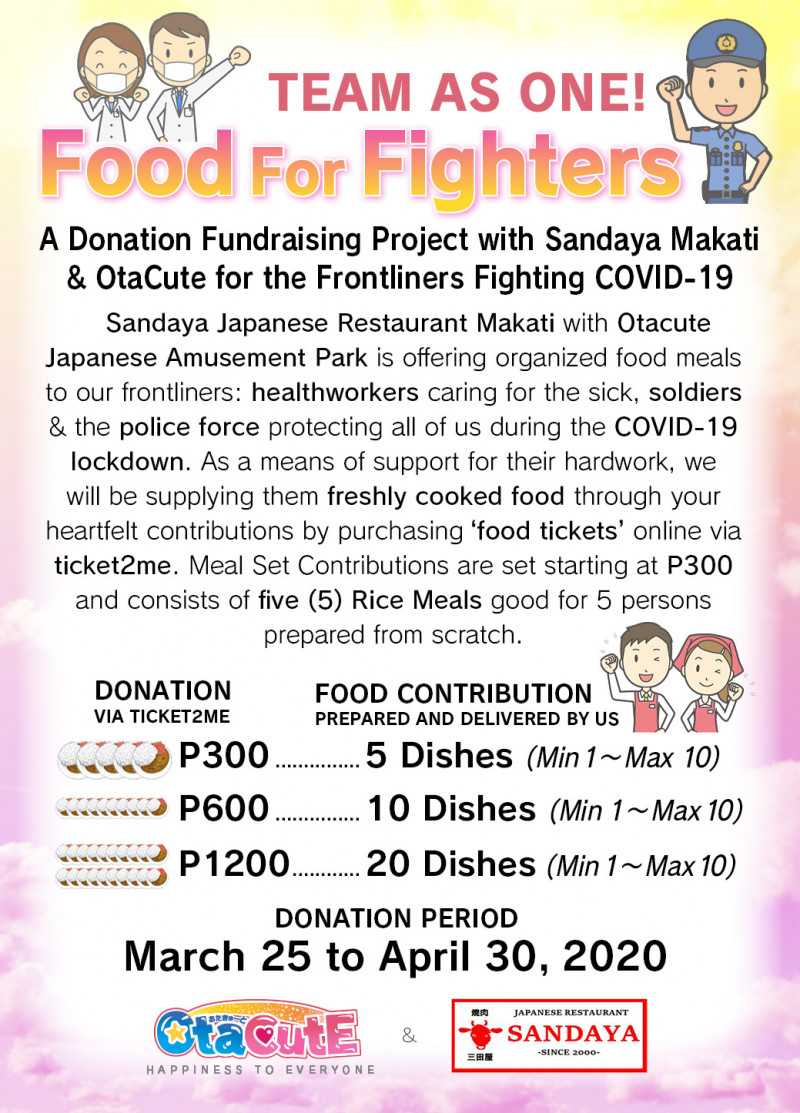 A Donation Ganbarou Project! Food for Fighters with Sandaya Makati & OtaCute
