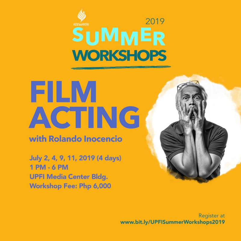 UPFI Summer Workshop 2019 (Film Acting)