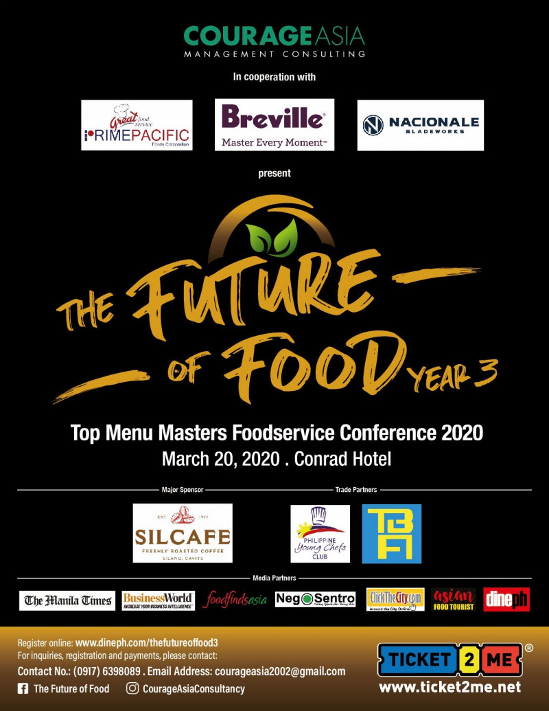 THE FUTURE OF FOOD Year 3: The TOP MENU MASTERS FOODSERVICE CONFERENCE 2020